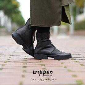 トリッペン パスト センター ジッパー ブーツ ブラックtrippen center zipper boots PAST-WAW/VST BLK