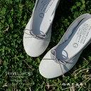 ショセ トラベルシューズ バイ ショセ バレエシューズ フラットパンプス TR-009 ホワイトグレーtravel shoes by chaus…