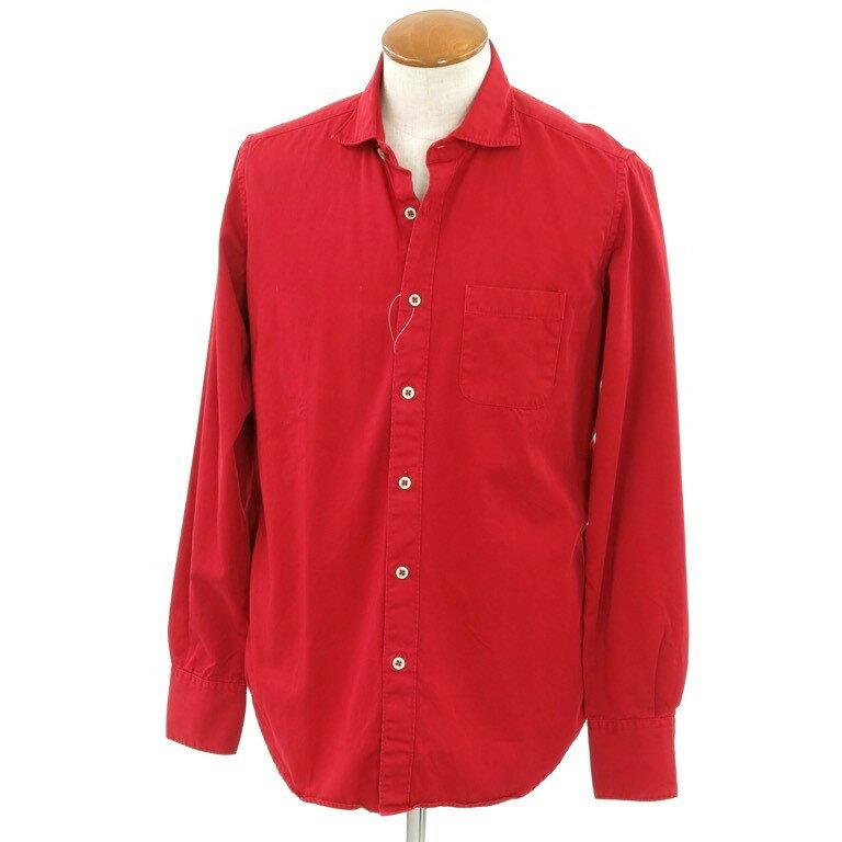 【中古】イレブンティ eleventy ホリゾンタルカラー カジュアルシャツ レッド【サイズ41】【RED】【S/S/A/W】【状態ランクD】【メンズ】【10602-956699】【1万円以上送料無料】