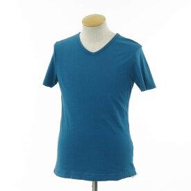 【中古】スリードッツ three dots Vネック 半袖Tシャツ グリーンブルー【サイズS】【BLU】【S/S】【状態ランクC】【メンズ】【10702-956629】【1万円以上送料無料】