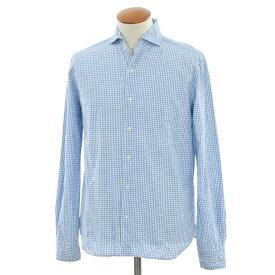 【中古】スリードッツ three dots チェック ホリゾンタルカラーシャツ ライトブルー×ホワイト【サイズM】【BLU】【S/S/A/W】【状態ランクC】【メンズ】【10602-956841】【1万円以上送料無料】