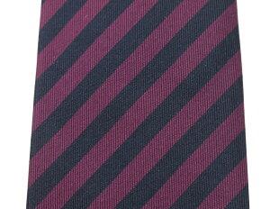 【新品】ココンCOCONストライプ柄ネクタイ紺×赤紫【PUP】【S/S/A/W】【状態ランクN】【メンズ】【11001-