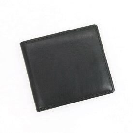 【最終価格】【中古】オオバセイホウ 大峽製鞄 レザー 二つ折り財布 ブラック【BLK】【S/S/A/W】【状態ランクB】【メンズ】【19901-956704】[2103EPD]