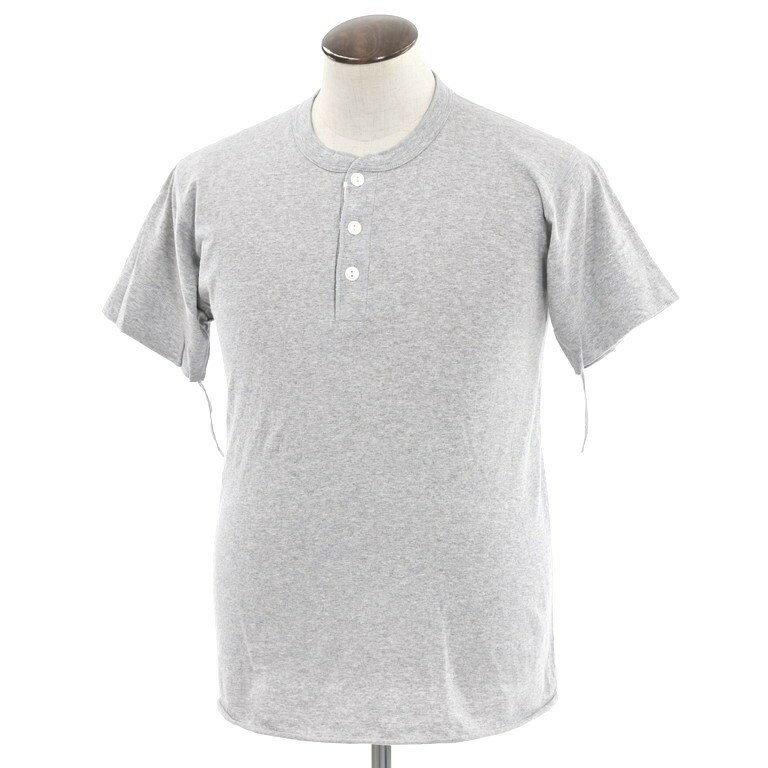【中古】ヘルスニット Healthknit ヘンリーネック 半袖Tシャツ グレー【サイズL】【GRY】【S/S】【状態ランクB】【メンズ】【10702-956658】【1万円以上送料無料】