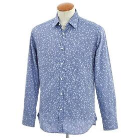 【新品】ギローバー GUY ROVER 総柄 カジュアルシャツ スモークブルー【サイズ39】【BLU】【S/S/A/W】【状態ランクN】【メンズ】【10602-956571】【1万円以上送料無料】