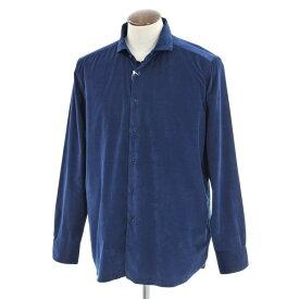 【新品】ギローバー GUY ROVER コーデュロイ ホリゾンタルカラーシャツ ネイビー【サイズXXL】【NVY】【S/S/A/W】【状態ランクN】【メンズ】【10602-956575】【1万円以上送料無料】