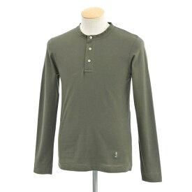 【新品】ギローバー GUY ROVER ヘンリーネック 長袖Tシャツ オリーブ【サイズS】【GRN】【S/S/A/W】【状態ランクN】【メンズ】【10701-956562】【1万円以上送料無料】【1910APD】