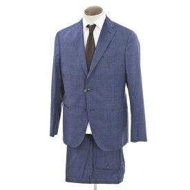 【新品】ボリオリ BOGLIOLI K.JACKET チェック ウール 3つボタンスーツ ブルー×ネイビー【サイズ52】【BLU】【S/S】【状態ランクN】【メンズ】【10402-956484】[2109DPD]