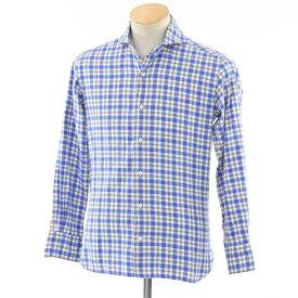 【中古】オリアン ORIAN vintage チェック カジュアルシャツ ブルー×グレー×ホワイト【サイズXS】【BLU】【S/S/A/W】【状態ランクC】【メンズ】【10602-956477】【1万円以上送料無料】【1910APD】