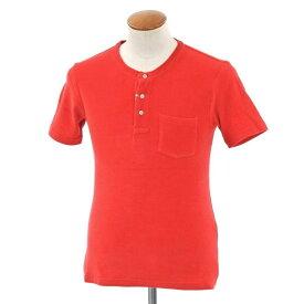 【新品】ギローバー GUY ROVER パイルコットン ヘンリーネック 半袖Tシャツ レッド【サイズM】【RED】【S/S】【状態ランクN】【メンズ】【10702-956461】【1万円以上送料無料】