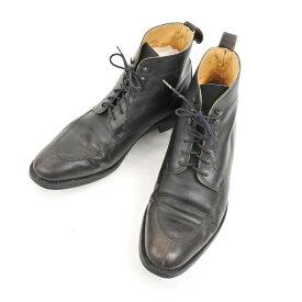 【中古】ロイドフットウェア Lloyd Footwear スプリットトゥ レースアップブーツ ブラック【サイズ7】【BLK】【S/S/A/W】【状態ランクC】【メンズ】【11103-956230】【2010APD】
