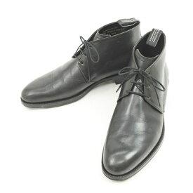 【最終価格】【中古】フットストックオリジナルズ FOOTSTOCK ORIGINALS レザー チャッカーブーツ ブラック【サイズ7】【BLK】【S/S/A/W】【状態ランクC】【メンズ】【11103-955568】[2109EPD]