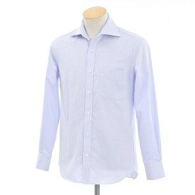 【中古】ニューヨーカー NEWYORKER ワイドカラー ドレスシャツ ブルー×ホワイト【サイズ38】【BLU】【S/S/A/W】【状態ランクC】【メンズ】【10602-956412】【1万円以上送料無料】