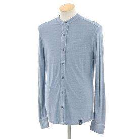 【新品】ドルモア Drumohr リネンカットソー バンドカラーシャツ スモークブルー【サイズS】【BLU】【S/S】【状態ランクN】【メンズ】【10602-956395】[2105DPD]