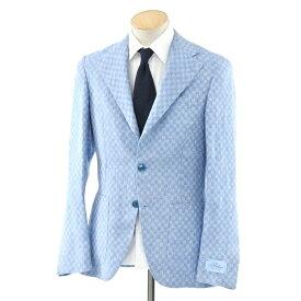 【新品】ベルベスト Belvest チェック リネン 3Bジャケット ライトブルー×ホワイト【サイズ44 8R】【BLU】【S/S】【状態ランクN】【メンズ】【10102-956391】【1万円以上送料無料】【1912BPD】