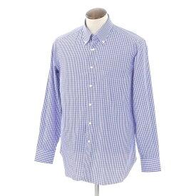 【最終価格】【中古】ブリーニ BURINI チェック BDシャツ ブルー×ホワイト【サイズ41】【BLU】【S/S/A/W】【状態ランクA】【メンズ】【10602-956187】[2103EPD]