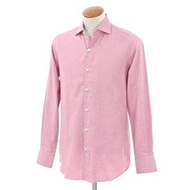 【新品】ベルベスト Belvest ワイドカラー カジュアルシャツ ピンク×ベージュ【サイズ39】【PNK】【S/S/A/W】【状態ランクN】【メンズ】【10602-956185】【2005BPD】