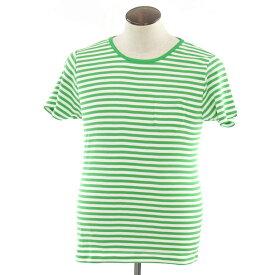 【新品】ルトロワ Letroyes ALAIN ボーダー 半袖Tシャツ グリーン×ホワイト【サイズL】【GRN】【S/S】【状態ランクN】【メンズ】【10702-956364】【1万円以上送料無料】[2102APD]