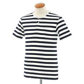 【中古】【未使用】ギローバー GUY ROVER ボーダー ヘンリーネック 半袖Tシャツ ダークネイビー×ホワイト【サイズM】【NVY】【S/S】【状態ランクS】【メンズ】【10702-956345】【1万円以上送料無料】