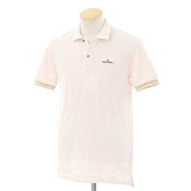 【中古】ピューテリー PEUTEREY コットン 半袖ポロシャツ ライトピンク×ホワイト×ベージュ【サイズS】【PNK】【S/S】【状態ランクC】【メンズ】【10703-955565】[2109DPD]