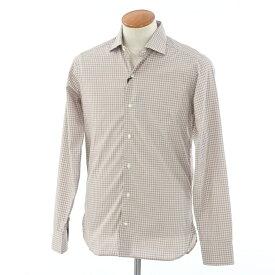 【中古】【未使用】ギローバー GUY ROVER チェック ワイドカラー カジュアルシャツ ブラウン×ホワイト【サイズ39】【BRW】【S/S/A/W】【状態ランクS】【メンズ】【10602-956297】【1万円以上送料無料】