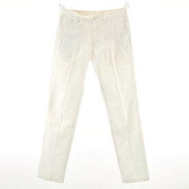 【中古】ユナイテッドアローズ UNITED ARROWS ガーメントウォッシュ加工 コットンパンツ ホワイト【サイズ48】【WHT】【S/S/A/W】【状態ランクB】【メンズ】【10904-956191】