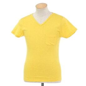 【新品】ルトロワ Letroyes コットン 半袖 Vネック Tシャツ JEAN BP イエロー【サイズS】【YEL】【S/S】【状態ランクN】【メンズ】【10702-956136】