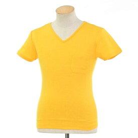【新品】ルトロワ Letroyes コットン 半袖 Vネック Tシャツ JEAN BP イエロー【サイズS】【YEL】【S/S】【状態ランクN】【メンズ】【10702-956135】【2010APD】