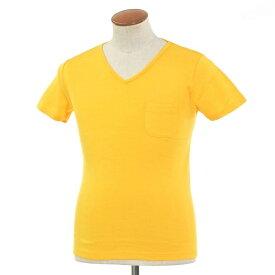 【新品】ルトロワ Letroyes コットン 半袖 Vネック Tシャツ JEAN BP イエロー【サイズM】【YEL】【S/S】【状態ランクN】【メンズ】【10702-956133】[2102BPD]