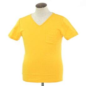 【新品】ルトロワ Letroyes コットン 半袖 Vネック Tシャツ JEAN BP イエロー【サイズL】【YEL】【S/S】【状態ランクN】【メンズ】【10702-956134】[2109DPD]