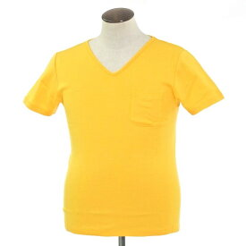【新品】ルトロワ Letroyes コットン 半袖 Vネック Tシャツ JEAN BP イエロー【サイズL】【YEL】【S/S】【状態ランクN】【メンズ】【10702-956133】[2102BPD]