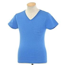 【新品】ルトロワ Letroyes コットン 半袖 Vネック Tシャツ JEAN BP ブルー【サイズS】【BLU】【S/S】【状態ランクN】【メンズ】【10702-956134】【2010APD】