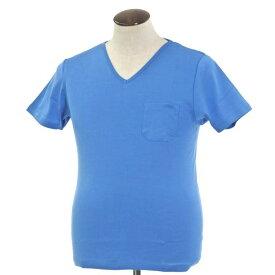 【新品】ルトロワ Letroyes コットン 半袖 Vネック Tシャツ JEAN BP ブルー【サイズL】【BLU】【S/S】【状態ランクN】【メンズ】【10702-956135】【2010APD】
