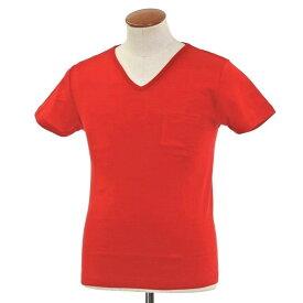【SALE30%OFF】【返品不可】【新品】ルトロワ Letroyes コットン 半袖 Vネック Tシャツ JEAN BP レッド【サイズM】【RED】【S/S】【状態ランクN】【メンズ】【10702-956132】