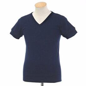 【新品】ルトロワ Letroyes コットン 半袖 Vネック Tシャツ JEAN ネイビー【サイズS】【NVY】【S/S】【状態ランクN】【メンズ】【10702-956131】
