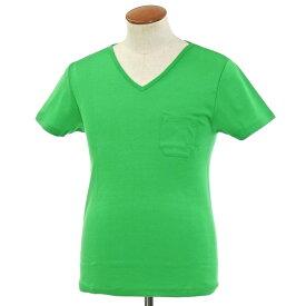 【新品】ルトロワ Letroyes コットン 半袖 Vネック Tシャツ JEAN BP グリーン【サイズM】【GRN】【S/S】【状態ランクN】【メンズ】【10702-956131】[2106CPD]