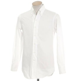 【中古】シップス SHIPS ボタンダウン ドレスシャツ ホワイト【サイズ38】【WHT】【S/S/A/W】【状態ランクB】【メンズ】【10601-956106】