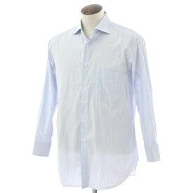 【最終価格】【中古】タイ ユア タイ TIE YOUR TIE ストライプ ワイドカラー ドレスシャツ ライトブルー×オレンジ系【サイズ42】【BLU】【S/S/A/W】【状態ランクB】【メンズ】【10601-956058】[2103EPD]