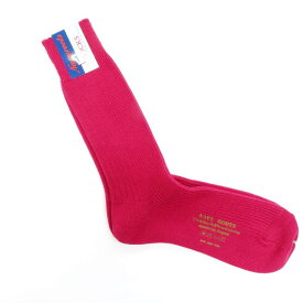 【新品】ネイビールーツ NAVY ROOTS ウール 変則リブ ソックス 靴下 ローズピンク【サイズ25-27cm(ワンサイズ展開)】【PNK】【A/W】【状態ランクN】【メンズ】【19906-956049】[2102CPD]