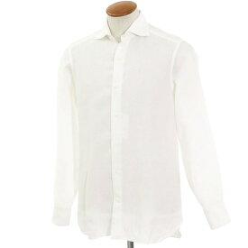 【中古】ビームスエフ BEAMS F リネン ワイドカラーシャツ ホワイト【サイズM】【WHT】【S/S】【状態ランクC】【メンズ】【10602-956000】