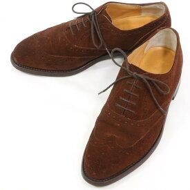 【中古】ロイドフットウェア Lloyd Footwear スエード ウイングチップ ドレスシューズ ブラウン【サイズ6 1/2】【BRW】【S/S/A/W】【状態ランクB】【メンズ】【11101-955992】
