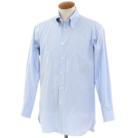 【最終価格】【中古】イセタンメンズ ISETAN MENS ストライプ BDドレスシャツ ライトブルー×ホワイト×ブラウン【サイズ表記なし(41位)】【BLU】【S/S/A/W】【状態ランクB】【メンズ】【10601-955972】[2103EPD]