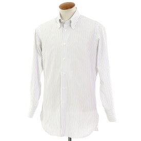 【最終価格】【中古】イセタンメンズ ISETAN MENS ストライプ ドレスシャツ ホワイト×ブルー×グレー【サイズ表記なし(41位)】【WHT】【S/S/A/W】【状態ランクC】【メンズ】【10601-955975】[2110EPD]