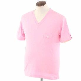【中古】ポールスミス Paul Smith コットン 半袖VネックTシャツ ピンク【サイズXL】【PNK】【S/S】【状態ランクC】【メンズ】【10702-955963】