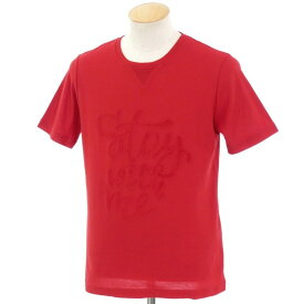 【中古】イレブンティ eleventy コットン 半袖クルーネックTシャツ レッド【サイズS】【RED】【S/S】【状態ランクA】【メンズ】【10702-955649】[2109CPD]