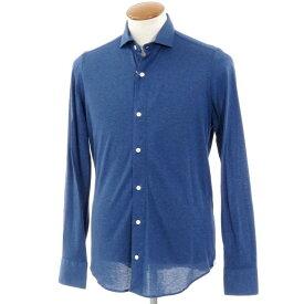 【新品】ベルベスト Belvest ワイドカラー コットンジャージーシャツ ネイビーブルー【サイズ39】【NVY】【S/S/A/W】【状態ランクN】【メンズ】【10602-955926】[2102DPD]