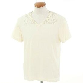 【中古】マルタンマルジェラ Martin Margiela コットン エイズ Tシャツ アイボリーベージュ【サイズM】【BEI】【S/S】【状態ランクC】【メンズ】【10702-955900】