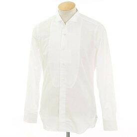 【新品アウトレット】バグッタ Bagutta コットン ウィングカラー ドレスシャツ ホワイト【サイズ37】【WHT】【S/S/A/W】【状態ランクN-】【メンズ】【10601-955816】[2102APD]