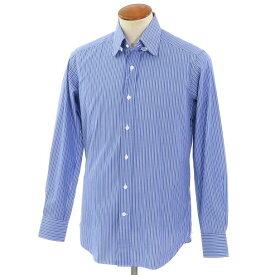 【新品】バグッタ Bagutta ストライプ柄 コットン タブカラー ドレスシャツ ブルー×ネイビー×ホワイト【サイズ39】【BLU】【S/S/A/W】【状態ランクN】【メンズ】【10601-955813】[2110BPD]
