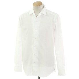 【新品】バグッタ Bagutta オープンカラー カジュアルシャツ ホワイト【サイズS】【WHT】【S/S/A/W】【状態ランクN】【メンズ】【10602-955799】